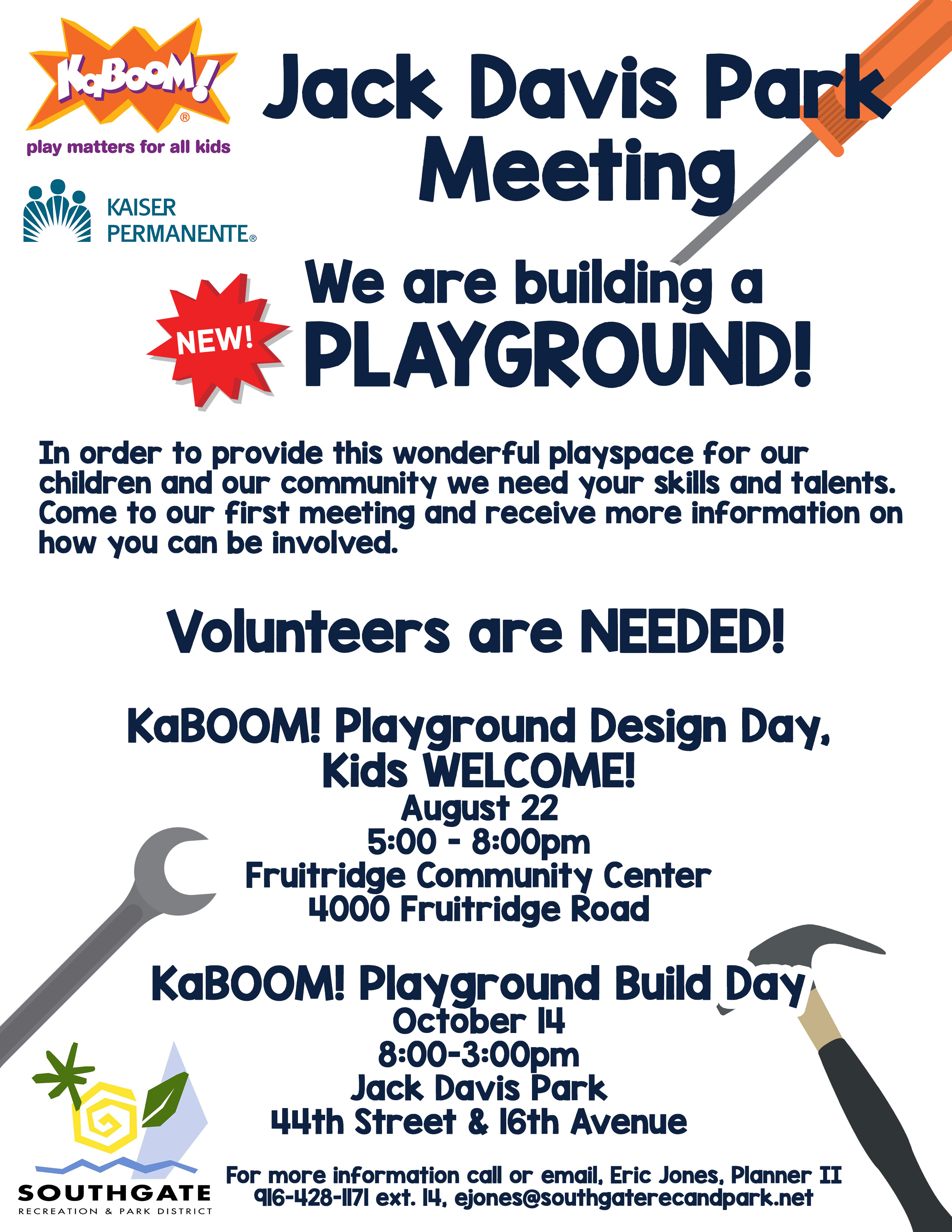 kaboom flyer with dates